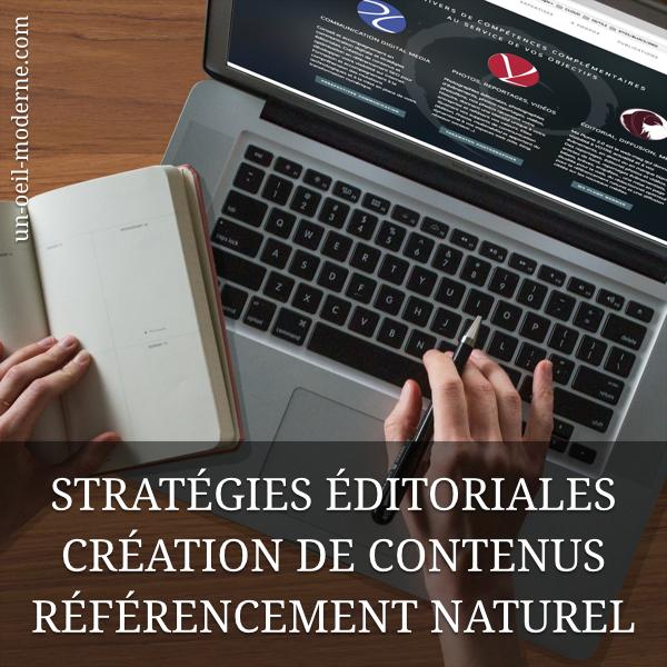 Stratégies éditoriales, création de contenus et référencement naturel (SEO)